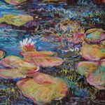 """Lily Pads in the Morning"" 9X12 Pastel $200"