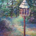 Sharon Sunday, McCourtie Park Birdhouse, 9x12, Pastels on Wallas Paper $200