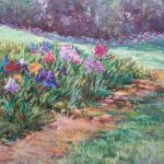 Sharon Sunday, The Iris Garden, 9x12, Pastels on Wallas Paper NFS