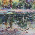 Remembering The Pond Sharon Sunday Pastel 12x9 $200