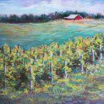 Sandhill Crane Winery View Sharon Sunday Pastel 12x9 $200