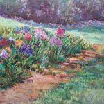Garden Iris Sharon Sunday Pastel 2017 $200