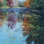 Grand River Reflection Sharon Sunday Pastel 9x12 NFS