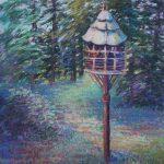 McCourtie Park Bird House Sharon Sunday Pastel 9x12  $200