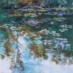 River at Ella Sharp Park Sharon Sunday Pastel 9x12 $200