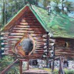 Shrine of the Pines Sharon Sunday Pastel 9x12 $200