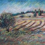 The Rolling Hills Sharon Sunday Pastel 12x9 $200